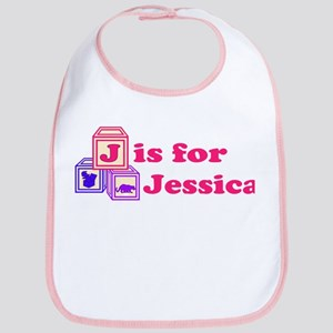 Baby Name Blocks - Jessica Bib