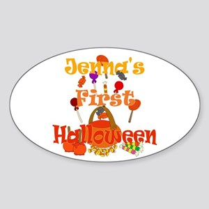 First Halloween Jenna Sticker (Oval)
