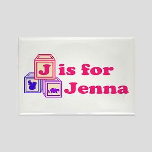 Baby Blocks Jenna Rectangle Magnet