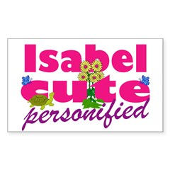 Cute Isabel Sticker (Rectangle 10 pk)