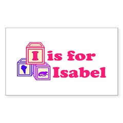 Baby Blocks Isabel Sticker (Rectangle)