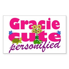 Cute Gracie Sticker (Rectangle 10 pk)