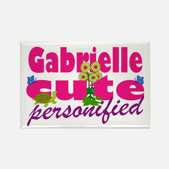 Cute Gabrielle Rectangle Magnet