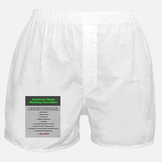 Paranormal Hobbyist Boxer Shorts