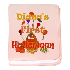 First Halloween Diana baby blanket