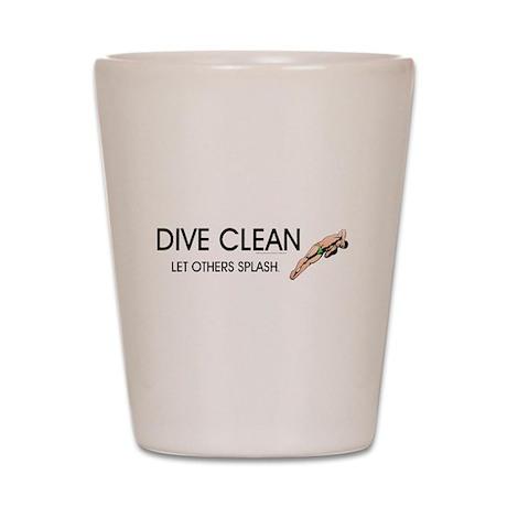 Dive Clean Shot Glass