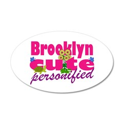 Cute Brooklyn 38.5 x 24.5 Oval Wall Peel