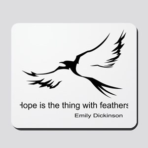 Hope, Emily Dickinson Mousepad