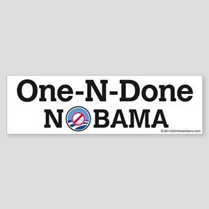One-N-Done Nobama Sticker