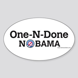 One-N-Done Nobama Oval Sticker