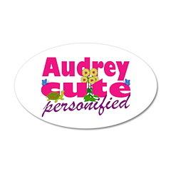 Cute Audrey 38.5 x 24.5 Oval Wall Peel
