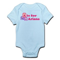 Baby Name Blocks - Ariana Infant Bodysuit