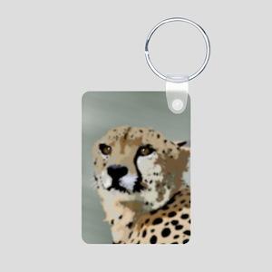 Cheetah Aluminum Photo Keychain