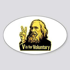 V is For Voluntary Sticker (Oval)