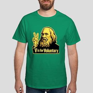 V is For Voluntary Dark T-Shirt