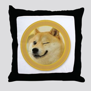 support buy me Throw Pillow