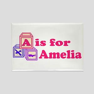 Baby Blocks Amelia Rectangle Magnet