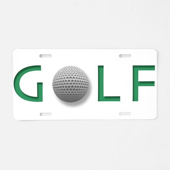 Cute Frisbee golf Aluminum License Plate