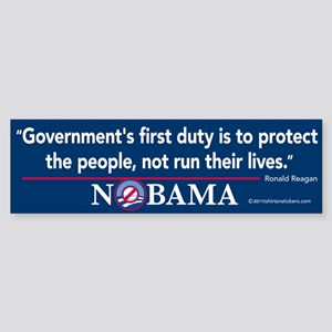 Government's First Duty Nobama Sticker