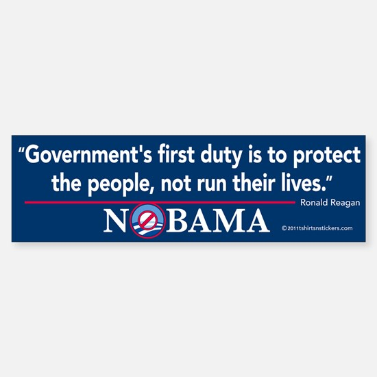Government's First Duty Nobama Bumper Bumper Sticker