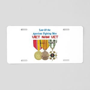 Last of the Fighting Men Aluminum License Plate