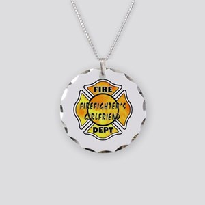 Firefighters Girlfriend Necklace Circle Charm