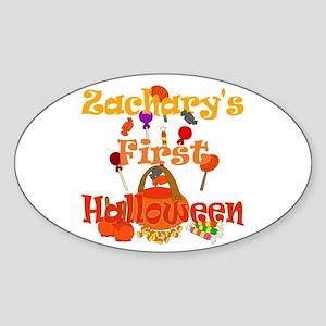 First Halloween Zachary Sticker (Oval)
