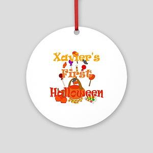 First Halloween Xavier Ornament (Round)
