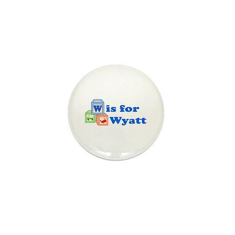 Baby Blocks Wyatt Mini Button (10 pack)