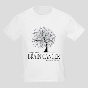 Brain Cancer Tree Kids Light T-Shirt