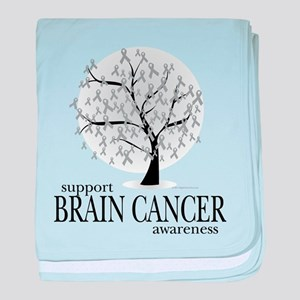 Brain Cancer Tree baby blanket