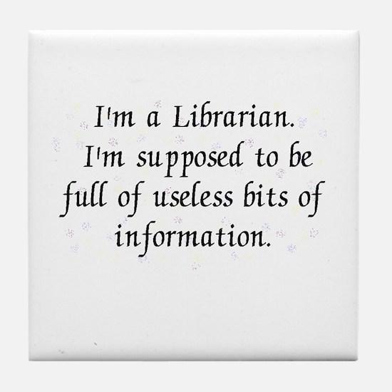 Useless bits of information Tile Coaster