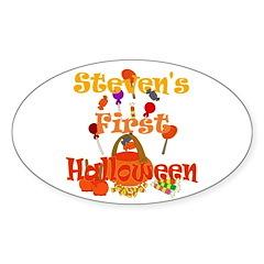 First Halloween Steven Sticker (Oval)