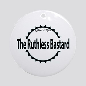 Ruthless Bastard Mt. Biker Ornament (Round)