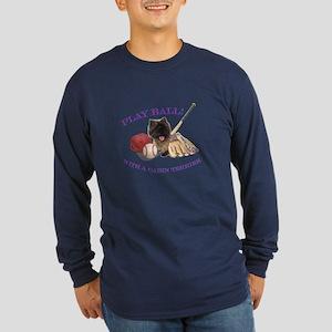 Cairn Terrier Baseball Long Sleeve Dark T-Shirt