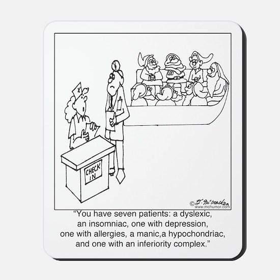 7 Patients W/ 7 Symptoms Mousepad