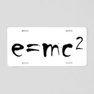 E=MC2 Aluminum License Plate