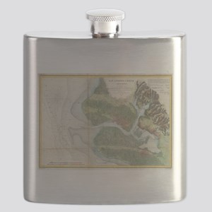 Vintage Oakland and San Antonio Creek Map (1 Flask