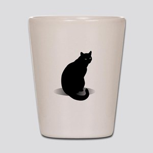 Basic Black Cat Shot Glass