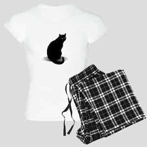 Basic Black Cat Women's Light Pajamas