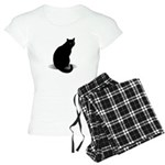 Basic Black Cat Women's Light Pajamas