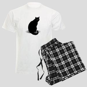 Basic Black Cat Men's Light Pajamas