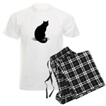 Basic Black Cat Men's Light Pajamas