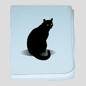 Basic Black Cat baby blanket