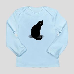 Basic Black Cat Long Sleeve Infant T-Shirt