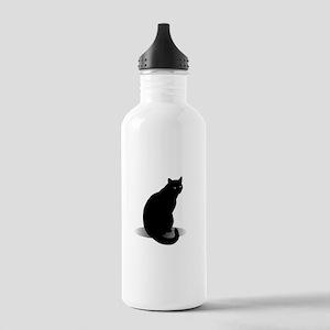 Basic Black Cat Stainless Water Bottle 1.0L