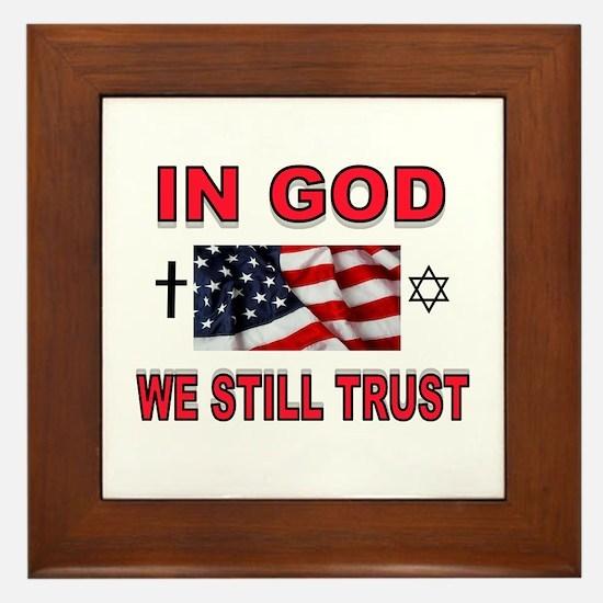 TRUST IN GOD Framed Tile