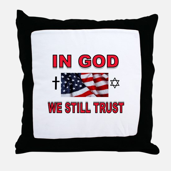 TRUST IN GOD Throw Pillow