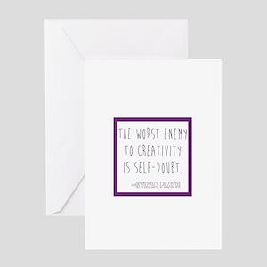 Sylvia Plath- self doubt Greeting Cards