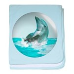 Bubble Dolphin baby blanket